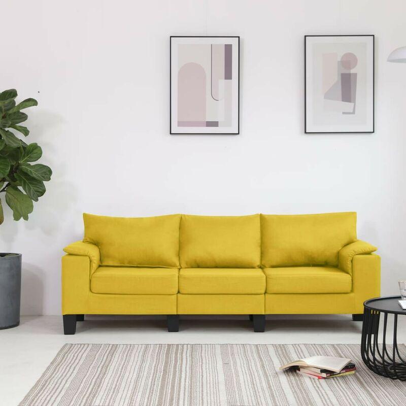 3-Sitzer-Sofa Gelb Stoff VD37136 - Hommoo