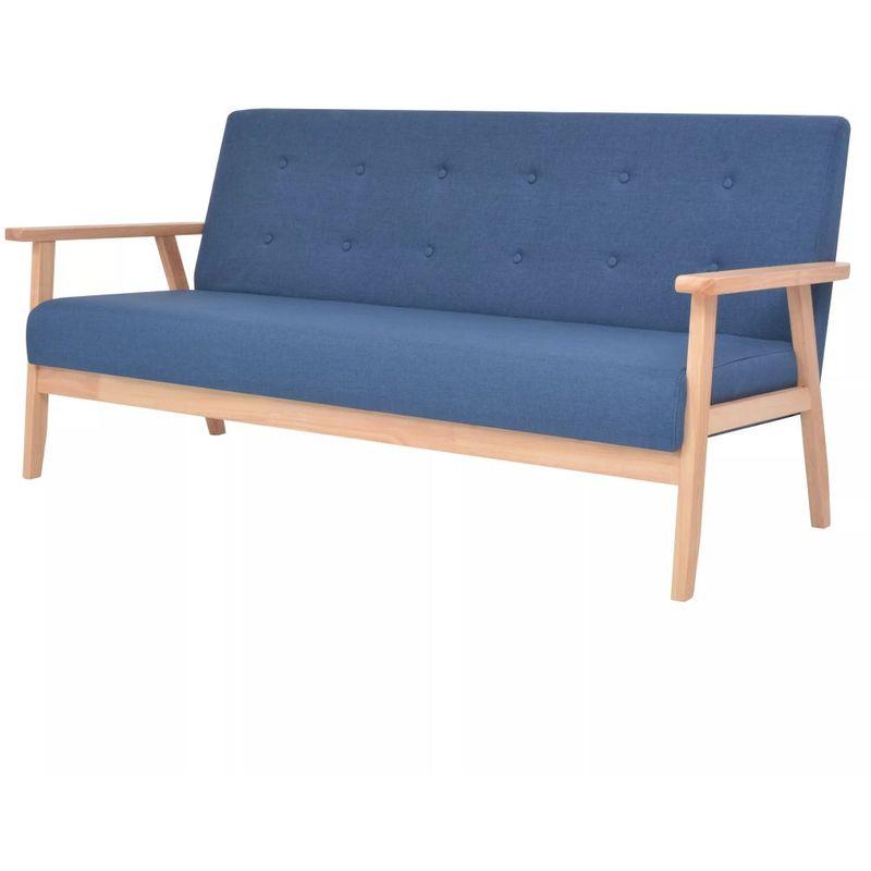 3-Sitzer-Sofa Stoff Blau VD10731 - Hommoo