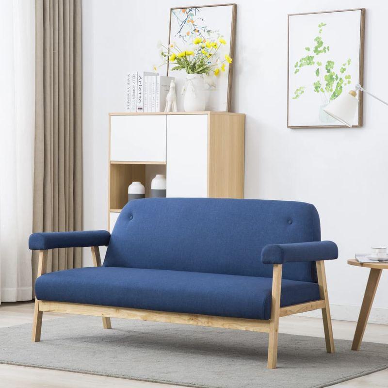 3-Sitzer-Sofa Stoff Blau VD12576 - Hommoo