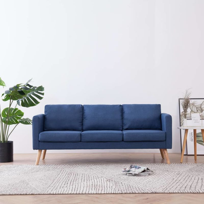 3-Sitzer-Sofa Stoff Blau VD22955 - Hommoo