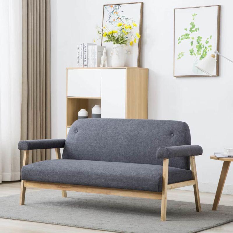 3-Sitzer-Sofa Stoff Dunkelgrau VD12573 - Hommoo
