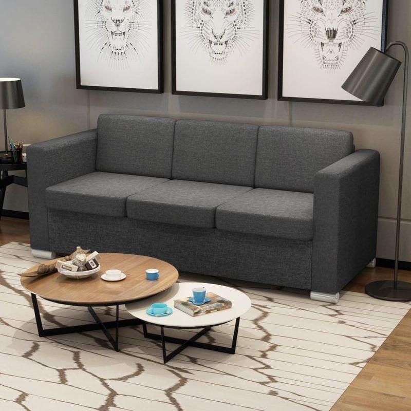 3-Sitzer Sofa Stoff Dunkelgrau VD09919 - Hommoo