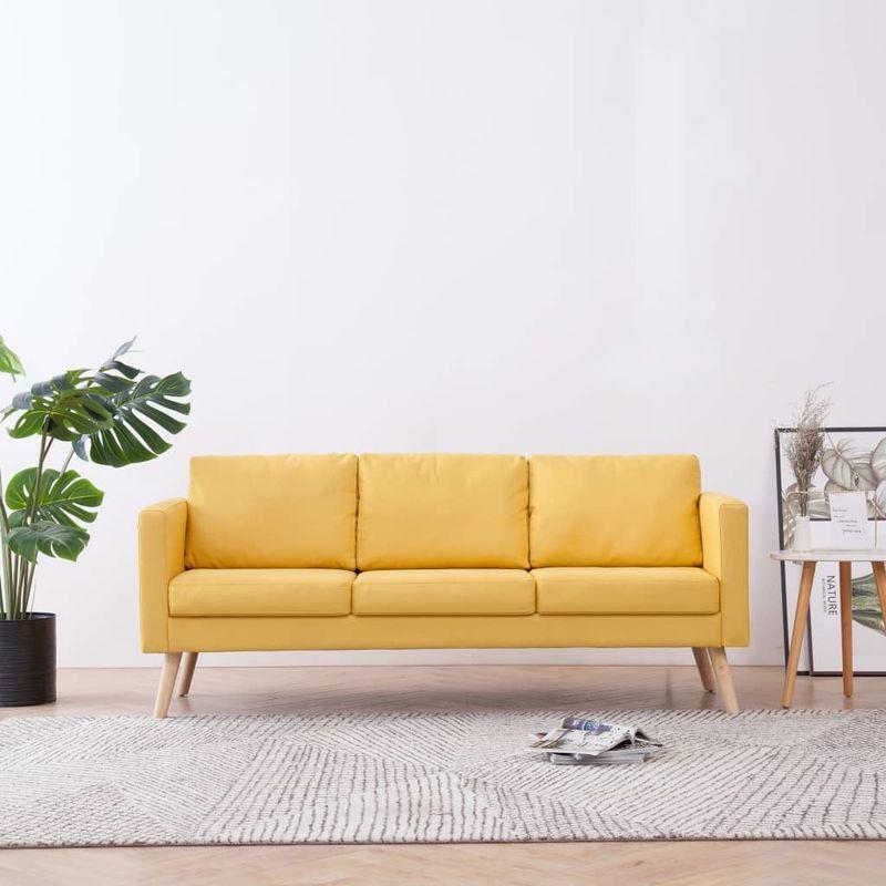3-Sitzer-Sofa Stoff Gelb VD22961 - Hommoo