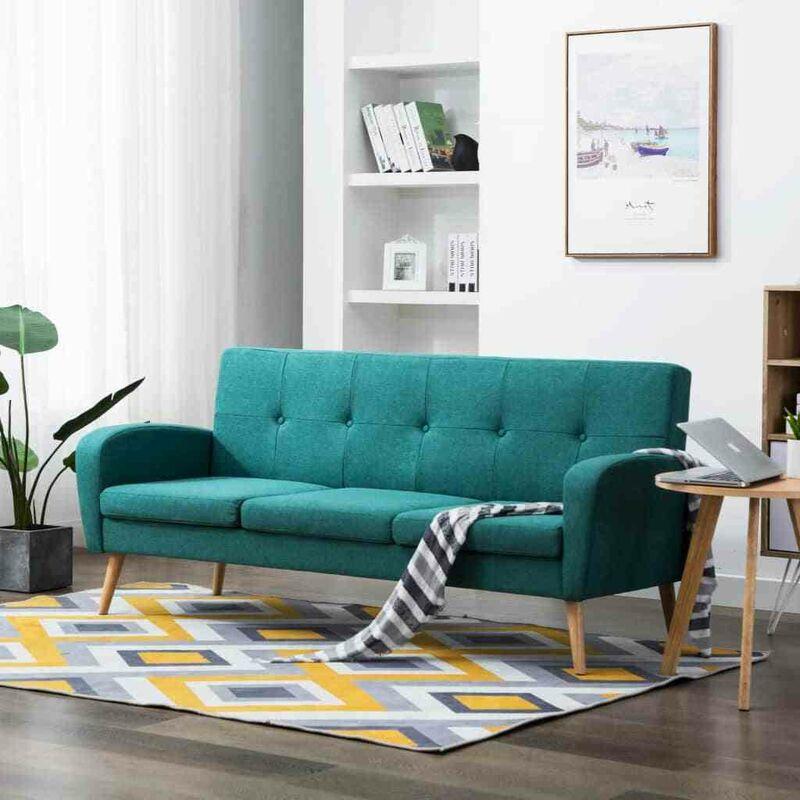 3-Sitzer-Sofa Stoff Grün VD12908 - Hommoo