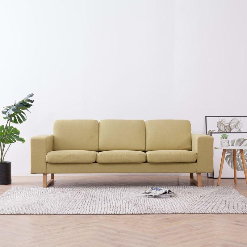 3-Sitzer-Sofa Stoff Grün VD22987 - Hommoo