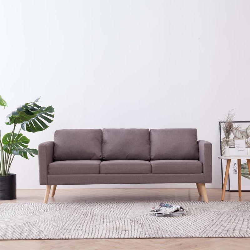 3-Sitzer-Sofa Stoff Taupe VD22965 - Hommoo