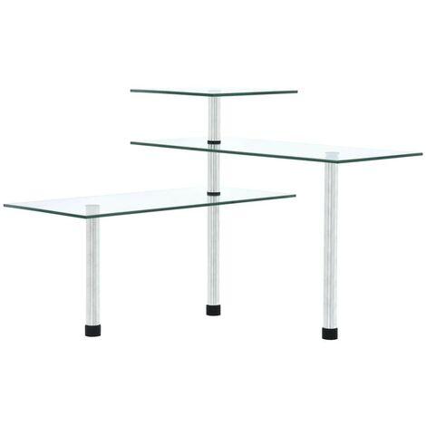 Hommoo 3-Tier Corner Kitchen Shelf Tempered Glass