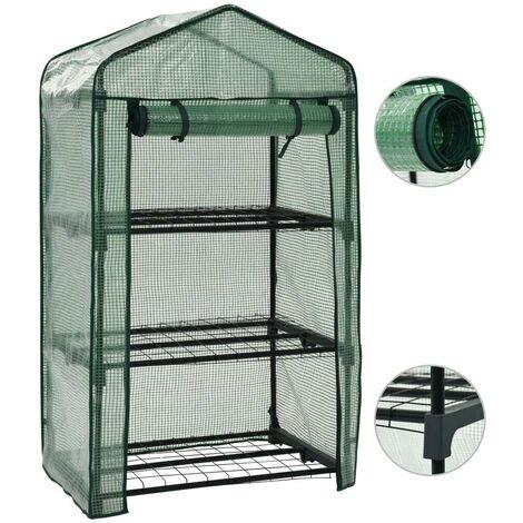 Hommoo 3-Tier Mini Greenhouse 69x49x125 cm