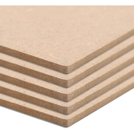 Hommoo 4 pcs MDF Sheets Square 60x60 cm 12 mm VD05307