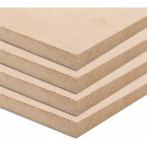 Hommoo 4 pcs MDF Sheets Square 60x60 cm 25 mm VD05312