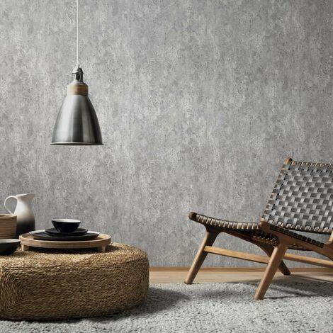 Hommoo 4 pcs Wallpaper Rolls Concrete Grey 0.53x10 m VD35508