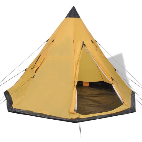 """main image of """"Hommoo 4-person Tent Yellow VD32241"""""""