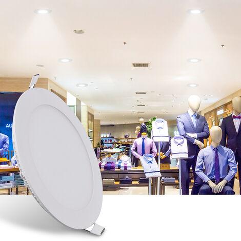 "main image of ""Hommoo 4 Piece 6W 9W 12W 15W 18W LED Recessed Ceiling Panel Down Lights Bulb Slim Lamp LLDDE-MC0014818X4"""