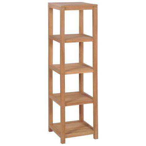 Hommoo 4-Tier Bathroom Storage Rack Solid Teak 42x42x165 cm