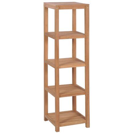 Hommoo 4-Tier Bathroom Storage Rack Solid Teak 42x42x165 cm QAH12431