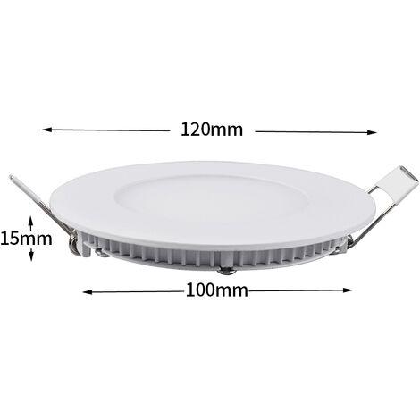 "main image of ""Hommoo 6 Piece 6W 9W 12W 15W 18W LED Recessed Ceiling Panel Down Lights Bulb Slim Lamp LLDDE-MC0014802X6"""
