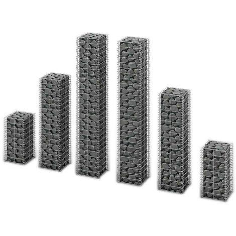 Hommoo 6 Piece Gabion Set Galvanised Wire