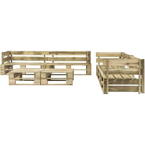 Hommoo 6 Piece Garden Lounge Set Pallets Wood QAH19141
