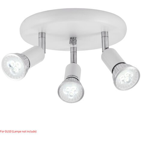 Hommoo 6 Piece LED Three Head Spotlights LLDDE-MC0030612X6