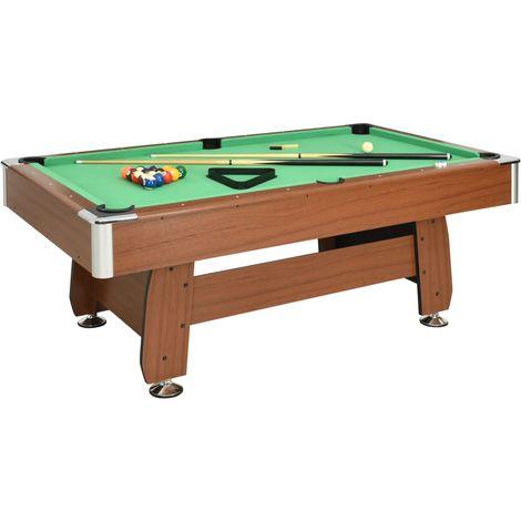 Hommoo 7 Feet Billiard Table 88 kg 214x122x79 cm Brown