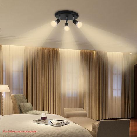 Hommoo 9 Piece LED Three Head Spotlights LLDDE-MC0030611X9