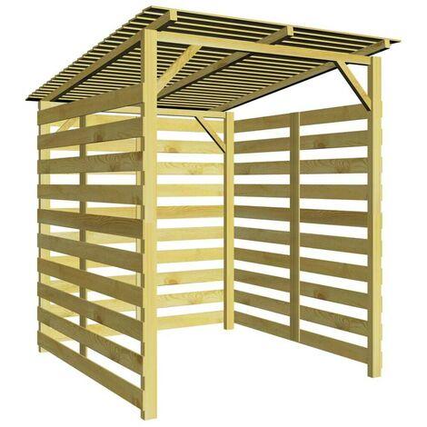 Hommoo Abri de stockage du bois de chauffage Bois de pin imprégné FSC HDV27676