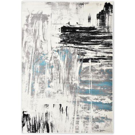 Hommoo Alfombra de PP azul 160x230 cm