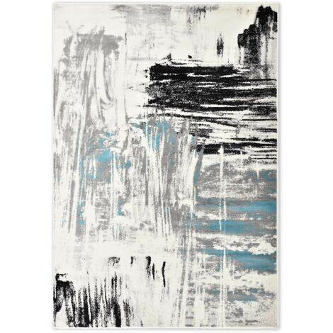 Hommoo Alfombra de PP azul 80x150 cm