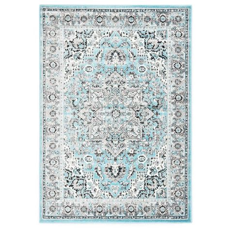 Hommoo Alfombra de PP azul claro 80x150 cm