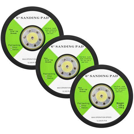 Hommoo Almohadillas de lijado 3 unidades 150 mm