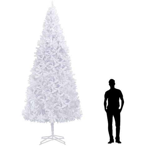 Hommoo árbol de Navidad artificial 400 cm blanco