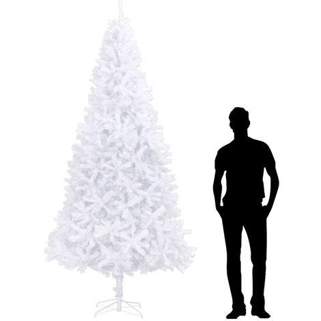Hommoo árbol de Navidad artificial blanco 300 cm