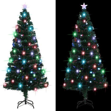 Hommoo árbol de Navidad artificial con soporte/LED 180 cm 220 ramas