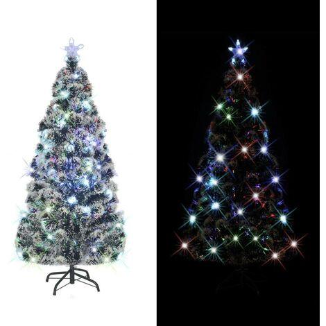 Hommoo árbol de Navidad artificial con soporte/LED 210 cm 280 ramas