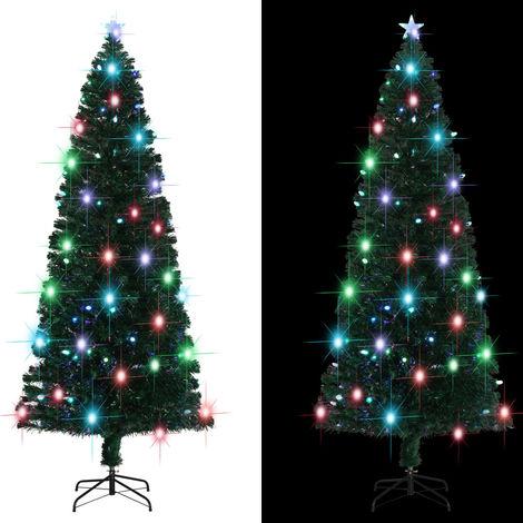 Hommoo árbol de Navidad artificial con soporte/LED 240 cm 380 ramas