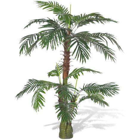 Hommoo árbol palmera artificial Cycus 150 cm