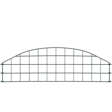 Hommoo Arched Pond Fence Set 77.3x26 cm Green QAH35459