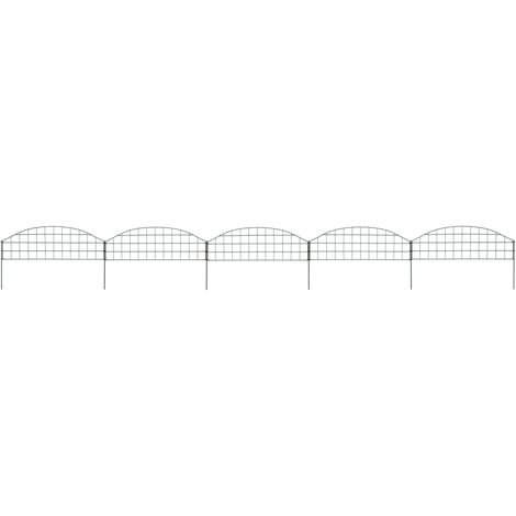 Hommoo Arched Pond Fence Set 77.3x26 cm Green VD35459