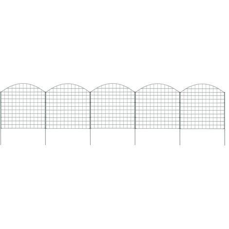 Hommoo Arched Pond Fence Set 77.5x78.5 cm Green VD35461