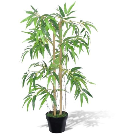 Hommoo Artificial Bamboo Plant Twiggy with Pot 90 cm