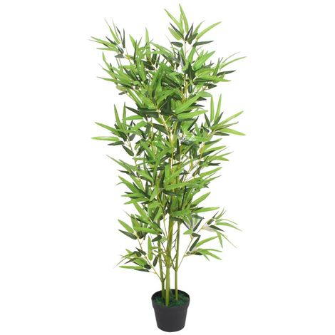 Hommoo Artificial Bamboo Plant with Pot 120 cm Green