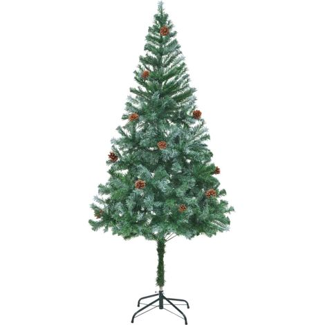 Hommoo Artificial Christmas Tree with Pinecones 180 cm