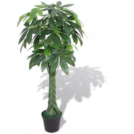Hommoo Artificial Fortune Tree Plant with Pot 145 cm Green
