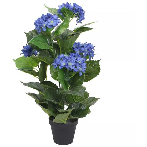 Hommoo Artificial Hydrangea Plant with Pot 60 cm Blue