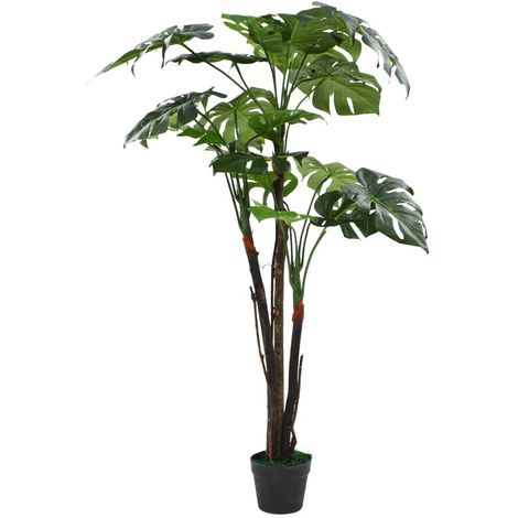 Hommoo Artificial Monstera Plant with Pot 130 cm Green