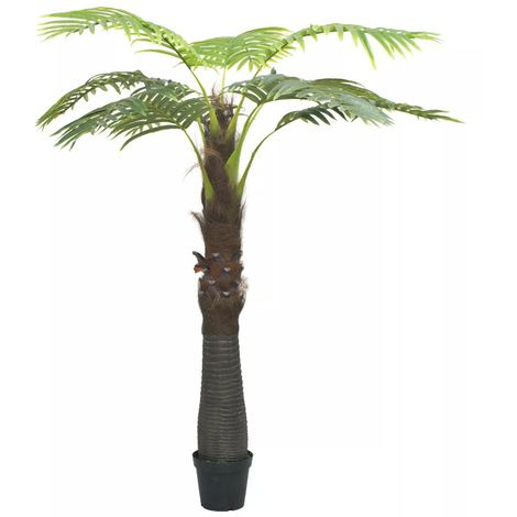 Hommoo Artificial Palm Tree with Pot 240 cm Green