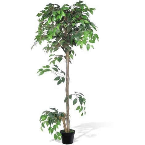 Hommoo Artificial Plant Ficus Tree with Pot 160 cm