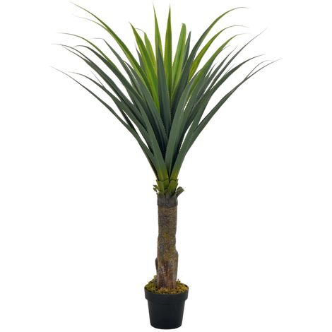 Hommoo Artificial Plant Yucca Tree with Pot Green 145 cm