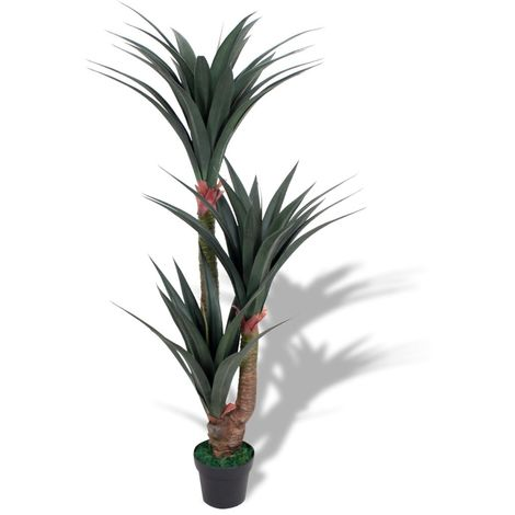 Hommoo Artificial Yucca Plant with Pot 155 cm Green