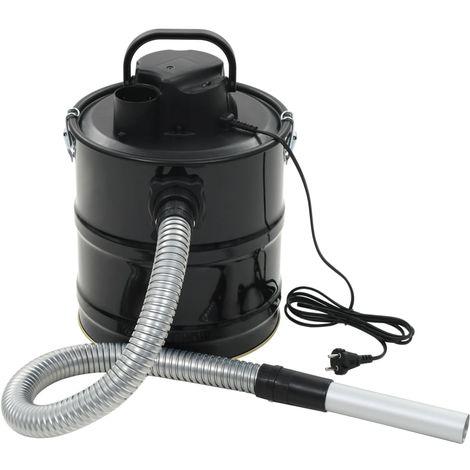 Hommoo Aspiradora de cenizas con filtro HEPA 1000 W 20 L negra